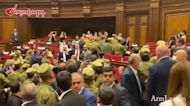 Armenian lawmakers brawl in parliament