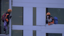 Animal Rights Protesters Climb UK's Environmental Protection Department in London