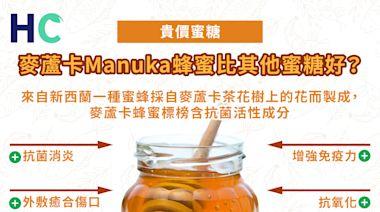 【HC營養剖析】貴價蜜糖麥蘆卡Manuka蜂蜜,比其他蜜糖好?