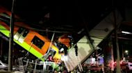 Metro overpass collapses in Mexico City, sending train plunging to the ground