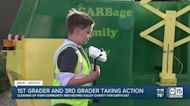 Earth Day 2021: Two Arizona kids help cleanup their neighborhood in home-built garbage and recycling trucks