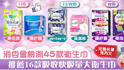 【超市大搜查】消委會檢測45款衛生巾 推薦16款吸收快吸量大衛生巾【附完整名單】 - 香港經濟日報 - TOPick - 健康 - 食用安全