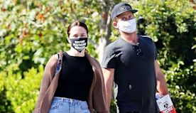 Sophia Bush Holds Hands With Mystery Man In Protective Gear To Get Groceries Safely – New Pics