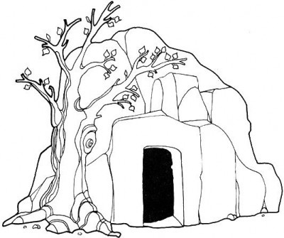 ... Card & Wallpapers Free: Empty Tomb of Jesus Kids Coloring Image