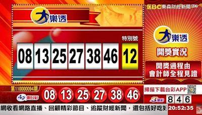 10/22 大樂透、雙贏彩、今彩539開獎囉!
