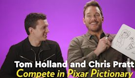 Tom Holland and Chris Pratt Show Off Their A+ Art Skills in a Game of Pixar Pictionary