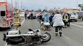 Monroe motorcycle cop injured in crash on U.S. 2 | HeraldNet.com