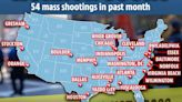 Map reveals where 54 mass shootings erupted over past MONTH