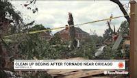 Cleanup begins after EF3 tornado strikes near Chicago