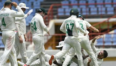 Maharaj hat-trick spins South Africa to series win in West Indies