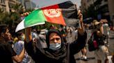 阿富汗難民走上雅典街頭 抗議塔利班接掌政權