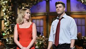 Scarlett Johansson, fiance Colin Jost share a sweet moment on 'SNL' stage: 'I met the love of my life here'