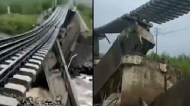 內蒙突發山洪 沖毀鐵路橋樑 部份列車停運