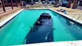 Teen Gets Into A Car Then Drives Straight Into A Pool