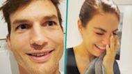 Mila Kunis Can't Stop Giggling When Ashton Kutcher Videotapes Bath Time