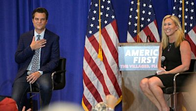 Matt Gaetz and Marjorie Taylor Greene in conspiracy laden double act designed to delight Florida's most famous retiree – Donald Trump