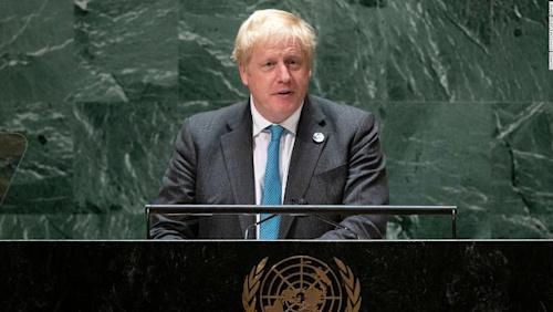 'Grow up': Boris Johnson urges the world to face climate change in UNGA speech - CNN Video