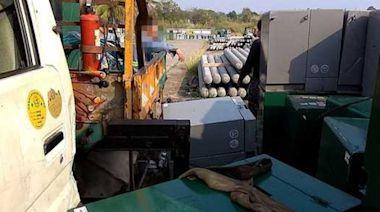 台南台電工安意外 包商吊掛400公斤變電箱砸落1工人沒生命跡象