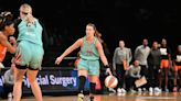 Sabrina Ionescu enjoys the WNBA All-Star game with Vanessa Bryant and Kobe Bryant's daughters