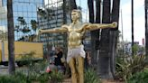 Life-size gold sculpture showing Kanye West as crucified Jesus is going on sale