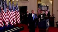 Trump falsely claims victory in U.S. election