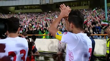 The moment Iran's soccer team thank female fans after huge win
