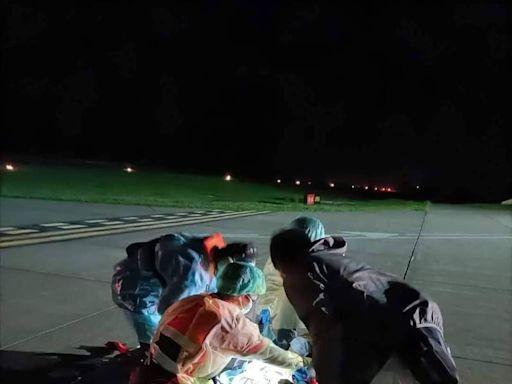 七美女子散步突遭蛇吻 緊急出動直升機送澎湖本島就醫