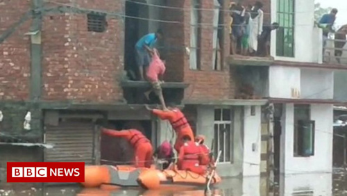 Floods devastate parts of India and Nepal