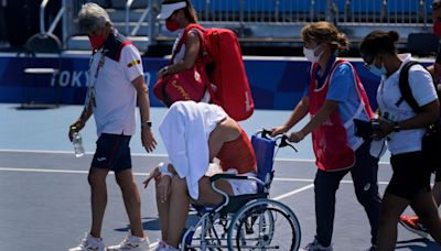 'If I die, who will take responsibility': Tennis players wilt in Tokyo heat with Paula Badosa leaving court in wheelchair