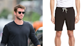 Liam Hemsworth shows off his athletic skills in $85 gym shorts
