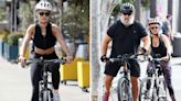 Rita Ora and unlikely celeb friend Russell Crowe enjoy bike ride in Sydney