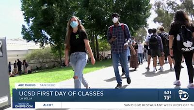 First day of in-person classes at UCSD since start of Pandemic