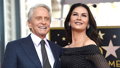 Catherine Zeta-Jones Jokes About Husband Michael Douglas' Dance Skills: 'He Gets Off Course'