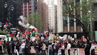Large Crowd of Pro-Palestine Protesters March in New York City
