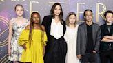 Angelina Jolie Brings Her Kids to 'Eternals' UK Premiere