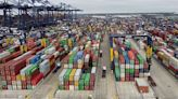 Lack of drivers causes shipping container build up at port