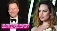 Lily James, Dominic West Cuddle at Rome Airport After PDA-Filled Trip