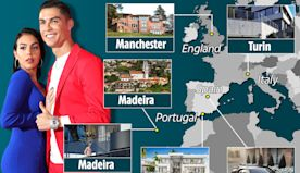 Ronaldo's homes through the years, from humble Madeira home to Turin villa