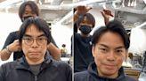 換髮型+摘掉眼鏡秒減齡! 美髮師巧手「宅味大叔變型男」