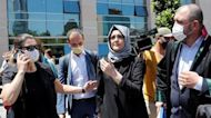 Hatice Cengiz appears at Jamal Khashoggi's murder trial in Turkey