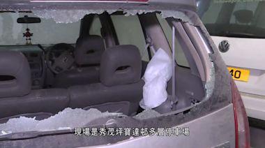 秀茂坪寶達邨停車場有八車被刑毀