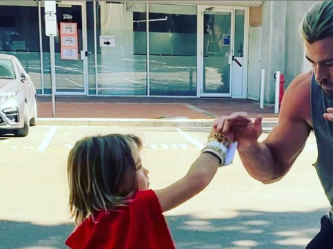 Chris Hemsworth's Jacked Arms Are No Match for His Son in 'Thor 4' Sparring Session