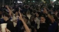 Chelsea Fans Celebrate Champions League Victory at Stamford Bridge