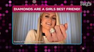 Paris Hilton Kisses Fiancé Carter Reum While Posing with Huge Ring Balloon: 'Diamond Goals'