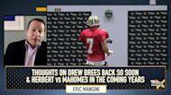 Eric Mangini: Brees is back & will scope out Chiefs from the field; talks Herbert & Mahomes | THE HERD