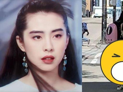 王祖賢街頭遛狗被捕獲 穿膝上裙「白玉長腿」現形   娛樂   NOWnews今日新聞
