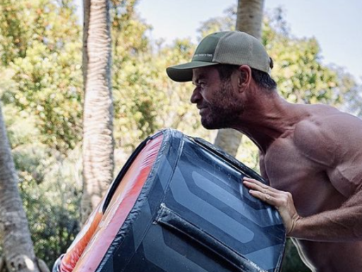 This Photo Of Chris Hemsworth Flipping A Tire Will Make You Go