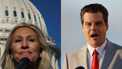 A second California venue refused to host Matt Gaetz' and Marjorie Taylor Greene's 'America First' tour