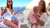 Millie Mackintosh dotes on baby Sienna on their first family holiday