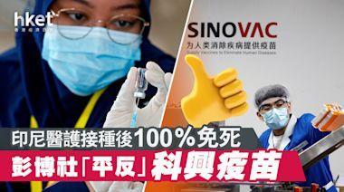 彭博社「平反」科興疫苗:印尼醫護接種後100%免死 - 香港經濟日報 - 中國頻道 - 社會熱點
